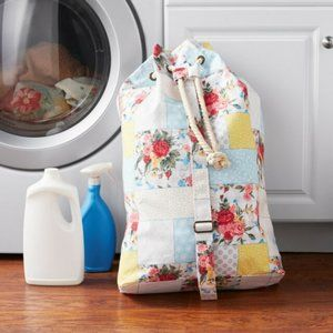 The Pioneer Woman Sweet Rose Patchwork Laundry Bag